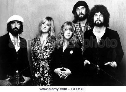 Fleetwood Mac.John Mcvie, Christine Mcvie, Stevie Nicks, Mick Fleetwood And Lindsey Buckingham. Credit: 182754_Globe Photos/MediaPunch - Stock Image