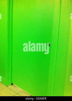 Green door - Stock Image