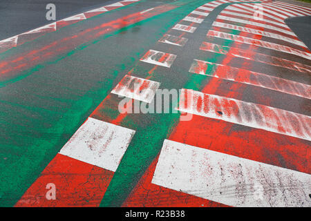 Pedestrian crossing and cycle path, Spain - Stock Image