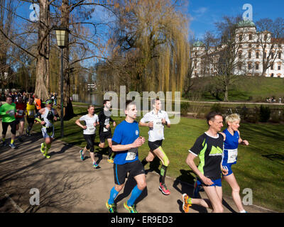 Running event Wasalauf, Celle, Lower Saxony, Germany - Stock Image