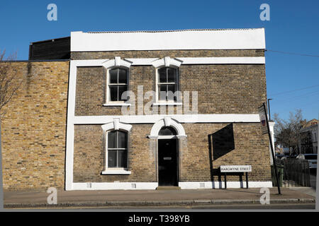 Row of terraced housing in Brixton, South London England UK  KATHY DEWITT - Stock Image