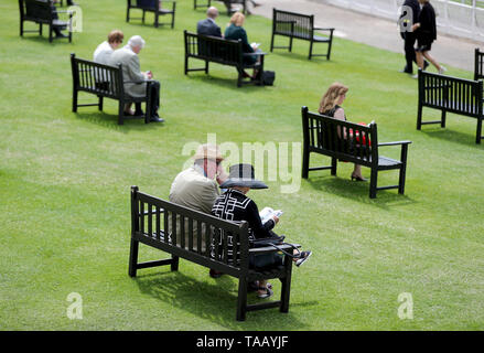 A general view of racegoers - Stock Image