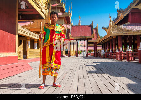 The Mandalay Palace, Located In Mandalay, Myanmar, Is The Last Royal Palace Of The Last Burmese Monarchy - Stock Image