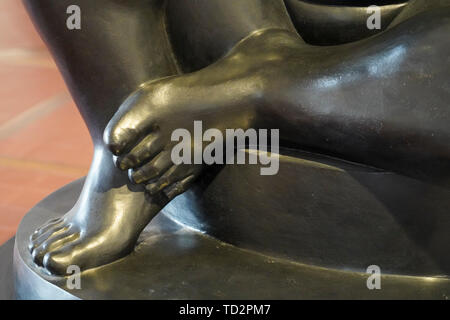 close up details of a bronze Sculpture by Mario Aguirre Roa at the Ralli Museum in Caesarea, Israel. - Stock Image