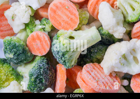 Picture of a bunch of frozen vegetables - Stock Image