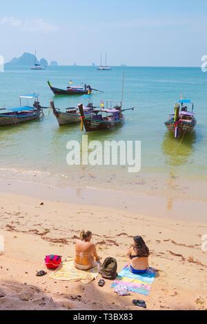 Beach, Ao Nang, Krabi province, Thailand - Stock Image