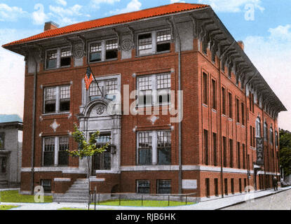 Ashtabula, Ohio, USA - YMCA Building - Stock Image