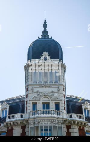 Edificio de la Real Compañía Asturiana de Minas.  Madrid is a south-western European city, the capital - Stock Image