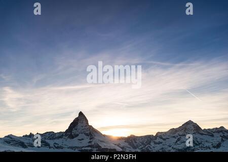 Switzerland, Valais, Zermatt, Gornergrat (3100 m), point of view on the Matterhorn (4478 m) - Stock Image