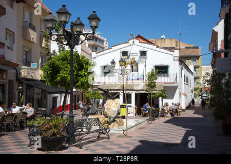 The Salon varieties theater and cafe, Fuengirola, Andalucia, Spain. - Stock Image
