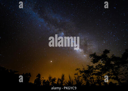 mars and milkyway - Stock Image