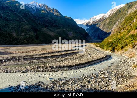 Franz Josef Glacier Walk – moraine - Stock Image