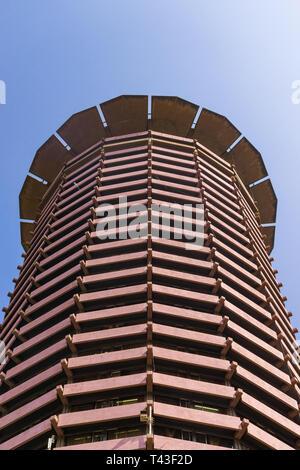 Kenyatta International Conference Centre KICC exterior on sunny day, Nairobi, Kenya - Stock Image