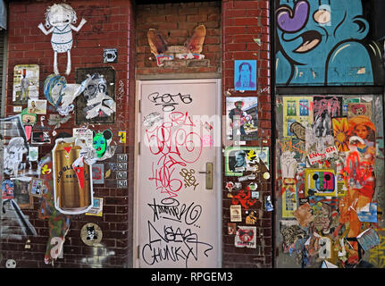 Manchester Northern Quarter art graffiti, Lancashire, North West England, UK, M4 - Stock Image