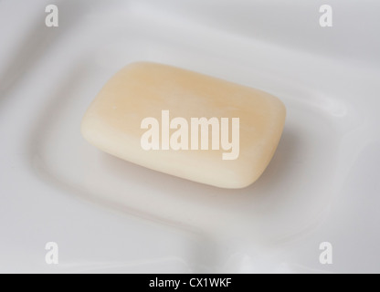 A bar of soap - Stock Image