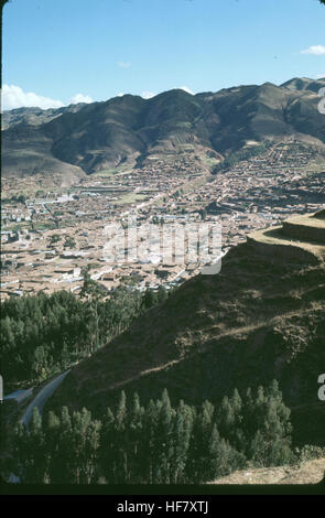 View upon Cuzco, Peru.  Capital of the Inca Empire (13th-16th century). Conquered by Pizarro 1533. - Stock Image