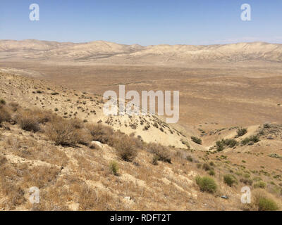 Landscape of Carrizo Plain National Monument - California USA - Stock Image