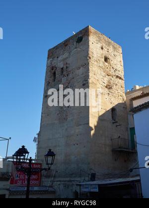 Torre Pimentel - Torre de los Molinos. Torremolinos, Málaga, Spain. - Stock Image