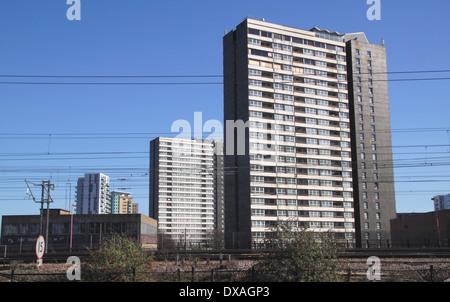 High Rise flats Stratford London - Stock Image