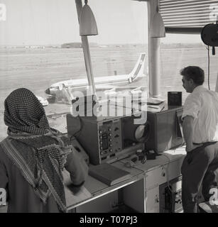 1960s, air traffic control, Ryard, Saudi Arabia - Stock Image