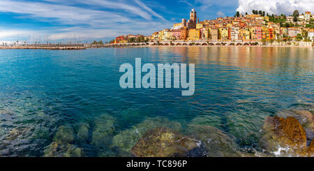 Menton, French Riviera, France - Stock Image