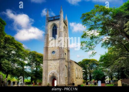 St. Columba's Church, Church of Ireland. Where William Butler Yeats is burried. Ireland - Stock Image