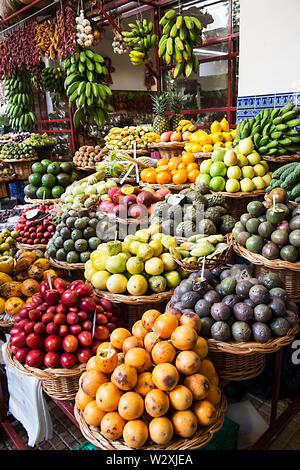Portugal, Madeira Island, Funchal, Mercado dos Lavradores - Stock Image