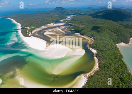 Hill inlet Whitsunday Islands, Queensland,  Australia - Stock Image