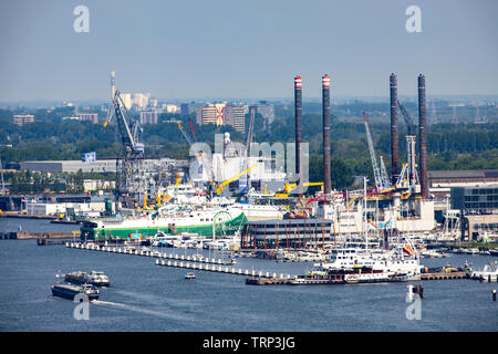 Amsterdam, Netherlands, harbor area, at the NDSM Werf, - Stock Image