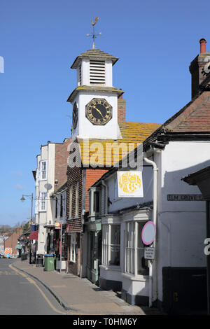 the old market clock tower in steyning west sussex - Stock Image
