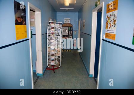 Corridor in Veterinary Clinic in the UK - Stock Image