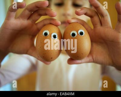 Eggy eyes - Stock Image