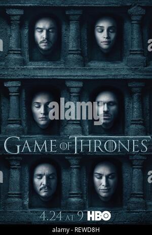 Kit Harington Emilia Clarke Lena Headey Poster Game Of Thrones Season 6 2016 Stock Photo Alamy