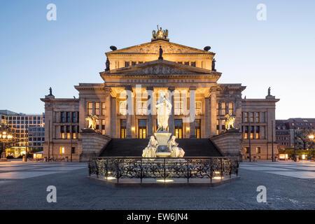 Concert House, Schiller Statue,  Berlin - Stock Image