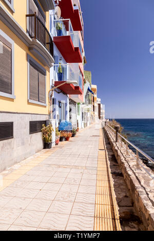 Apartments on the seafront at La Garita, Gran Canaria, Canary Islands - Stock Image