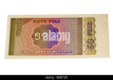 Currency Of Myanmar - Stock Image
