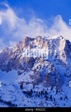 Winter dawn on Carson Peak, June Lake, California, USA - Stock Image