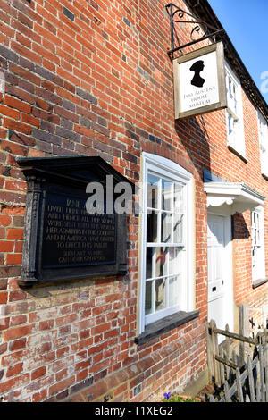Section of Jane Austen's House, Chawton, near Alton, Hampshire, UK. 24 February 2019. - Stock Image