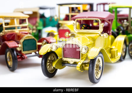 Matchbox Models of Yesteryear cars from the beginning of the 20th century - Stock Image