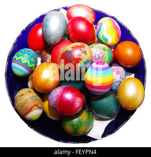 In the Eastern Orthodox Church traditionally painted eggs for Easter. - Stock Image