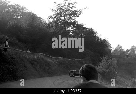 1960 500cc racer spins Wiscombe Hillclimb - Stock Image