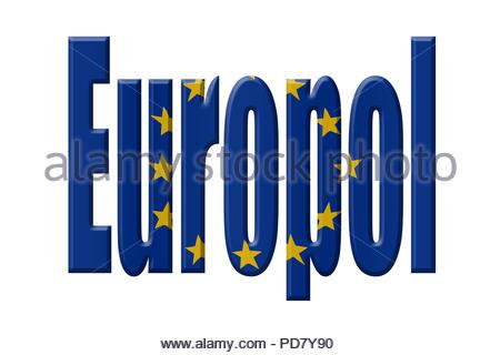 Digital Illustration - EU agency. Europol,  European Union Agency for Law Enforcement Cooperation,  Europäisches Polizeiamt, - Stock Image