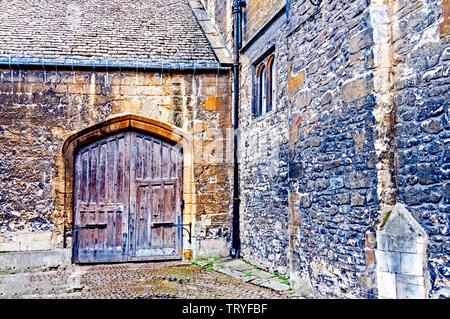 Oxford: Hertford college, backdoor - Stock Image