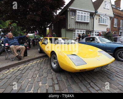 Faversham, Kent, UK. 19th May, 2019. 25th Faversham Transport Weekend: the second day of this annual transport festival now in its 25th year showcasing a wide range of vintage cars and vehicles. Pictured: a Gilbern T11 Concept. Credit: James Bell/Alamy Live News - Stock Image