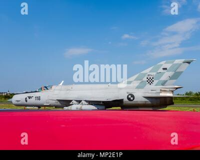 Croatian Air Force MiG-21 BIS-D jet interceptor airplane - Stock Image