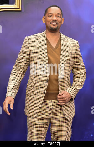 London, UK. 09th May, 2019. LONDON, UK. May 09, 2019: Will Smith at the 'Aladdin' premiere at the Odeon Luxe, Leicester Square, London. Picture: Steve Vas/Featureflash Credit: Paul Smith/Alamy Live News - Stock Image
