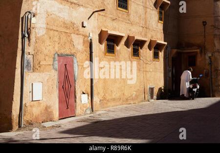 Marrakech backstreet scene, Marrakesh medina, Marrakech Morocco North Africa - Stock Image