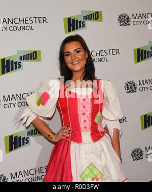 Manchester, UK. 3rd November, 2018. Cinderella played by Shanon Flynn. Manchester Lights Switch on Credit: Della Batchelor/Alamy Live News - Stock Image