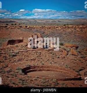 The Wupatki National Monument of Pueblo people , near Flagstaff, Arizona, USA - Stock Image