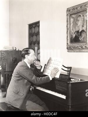 Composer at work - Stock Image